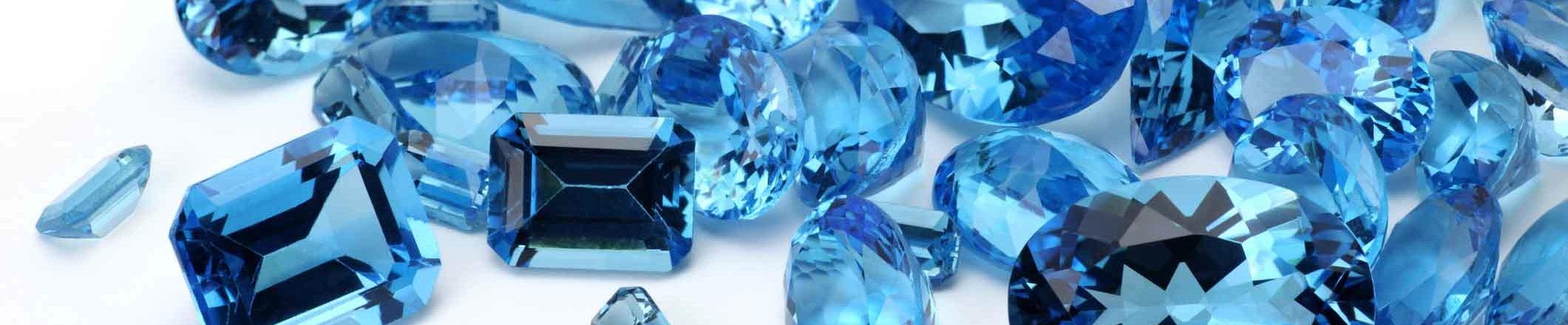 many scattered topaz gemstones