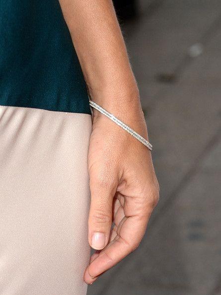 sandra bullock wearing diamond bracelet