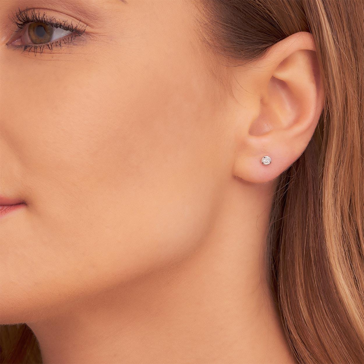 0.10ct Diamond Stud Earrings