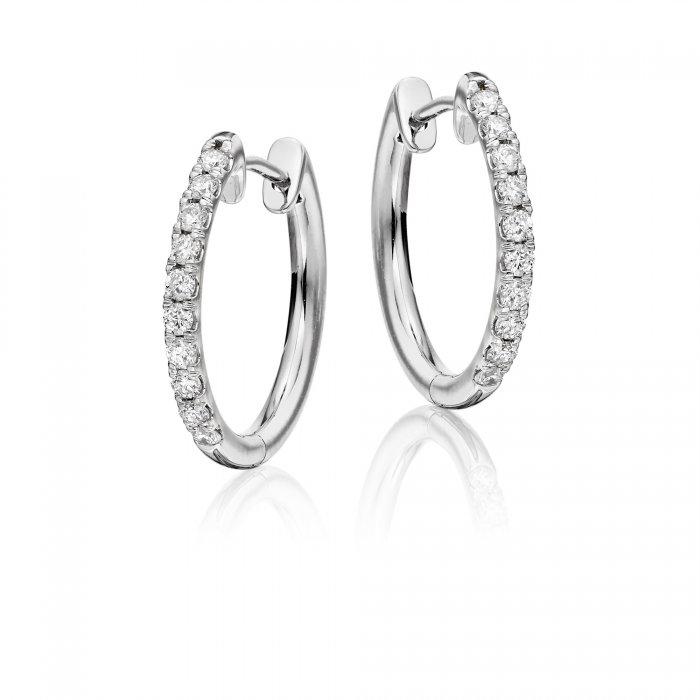 bda55bacd1b00 Grace single line 0.40ct diamond hoop earrings in 9K white gold