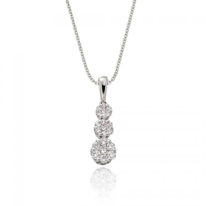 Illusion trilogy 020ct diamond pendant in 18k white gold aloadofball Choice Image