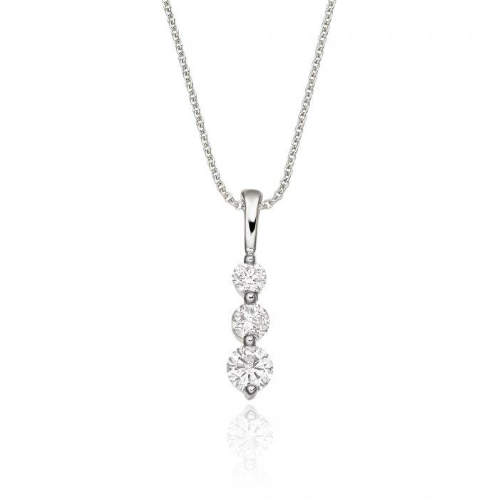 Trilogy 030ct diamond pendant in 18k white gold aloadofball Choice Image