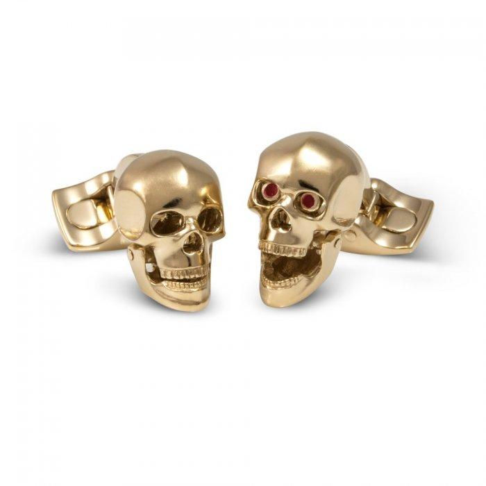 Deakin & Francis Yellow-Gold Skull Cuff Links ke0fp2IK3G