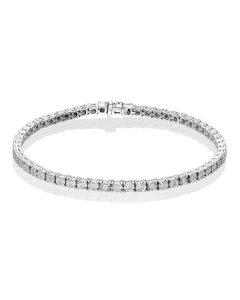 Diamond Tennis Bracelet 0.50ct G/HSI Illusion Set 18K White Gold