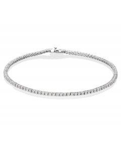1 carat Diamond Tennis Bracelet G/HSI Diamond 18K White Gold