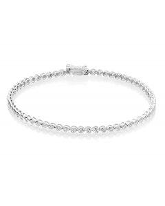 Rubover 1.00ct diamond tennis bracelet in 9K white gold