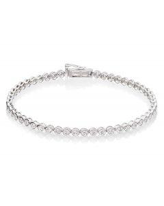 Rubover 2.00ct diamond tennis bracelet in 9K white gold