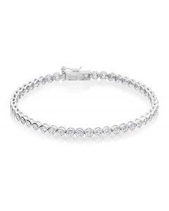 Rubover 3.00ct diamond tennis bracelet in 18K white gold