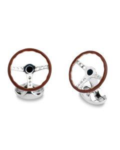 Deakin & Francis Sterling Silver Vintage Steering Wheel Cufflinks