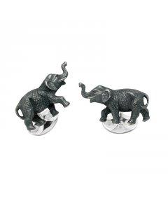 Elephant Cufflinks In Sterling Silver By Deakin & Francis