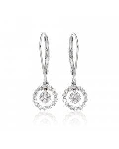 Orbit 0.40ct cluster diamond earrings in 9K white gold