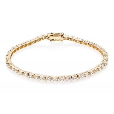 Diamond Tennis Bracelet 3ct G/HSI Quality Box Claw 9K Yellow Gold