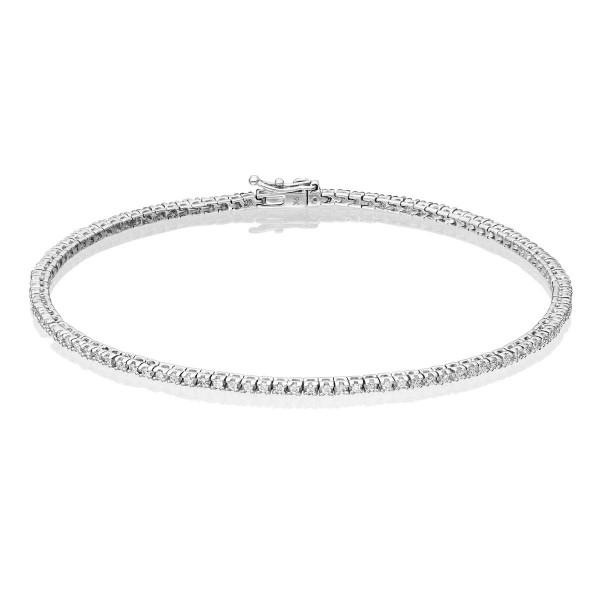 0.50ct Diamond Tennis Bracelet Claw Set in 9K White Gold