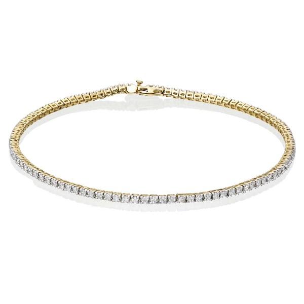 1 carat Diamond Tennis Bracelet G/HSI Diamond 9K Yellow Gold