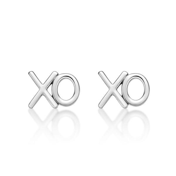 "Sterling Silver XO ""Hugs & Kisses"" Earrings"