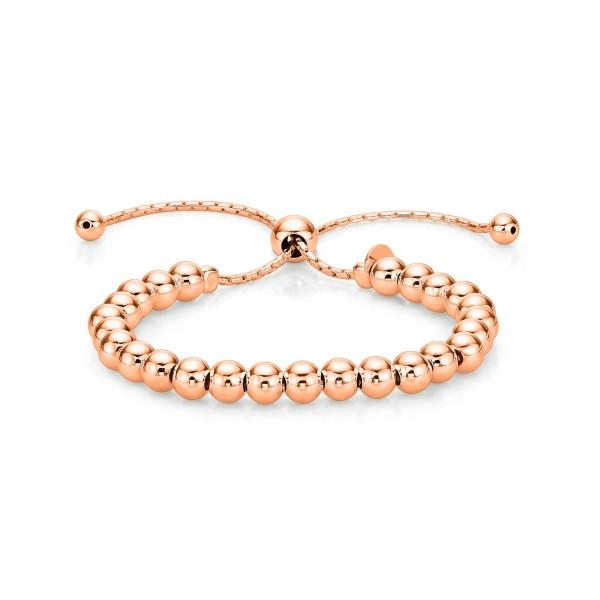 Sterling Silver Ball Bracelet, Rose Gold Plated Bracelet