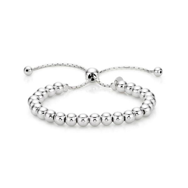 Sterling Silver Ball Bracelet, Silver or Rose Gold Plated Bracelet
