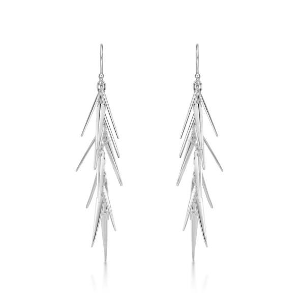Pine Needle 925 Sterling Silver Drop Earrings