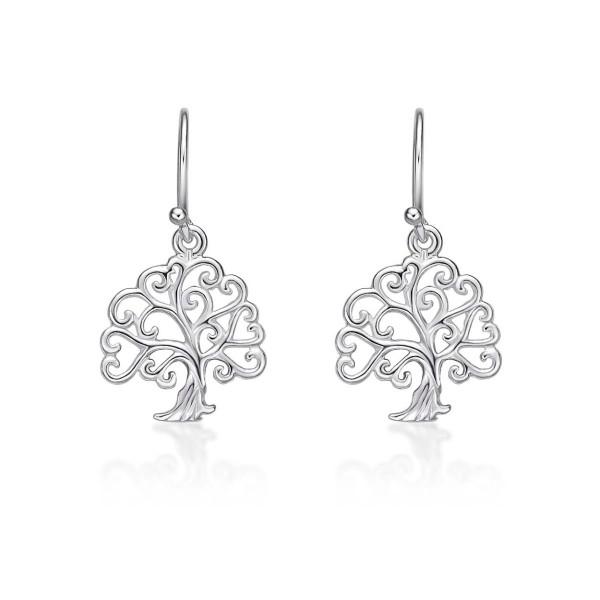 Tree of Life 925 Sterling Silver Dangle Earrings