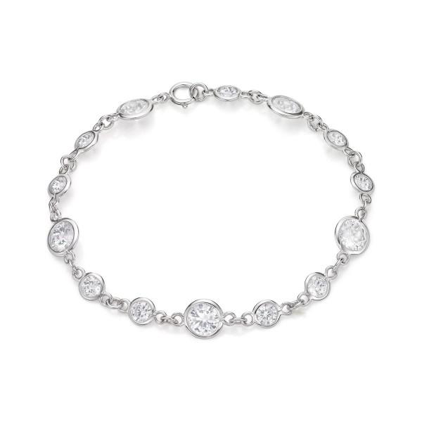 Gleam Cubic Zirconia Bracelet for Women in 925 Sterling Silver