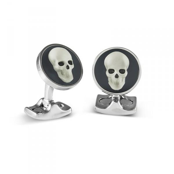 Deakin & Francis Designer Skull Cameo Cufflinks