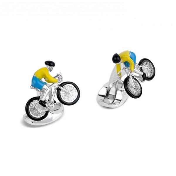 Deakin & Francis Bike Rider Cufflinks in Sterling Silver