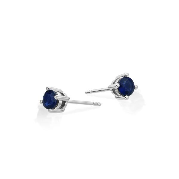 Sapphire Stud Earrings 3.8mm Sapphire in 9K White Gold