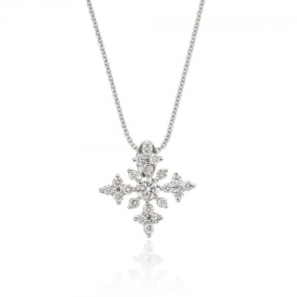 Night Star 0.30ct Cluster Diamond Pendant In 9K White Gold