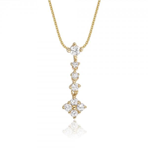 Cupids Arrow 0.25ct Diamond Pendant In 9K Yellow Gold