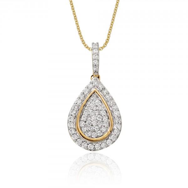 Pear Drop 0.35ct Diamond Pendant In 9K Yellow Gold