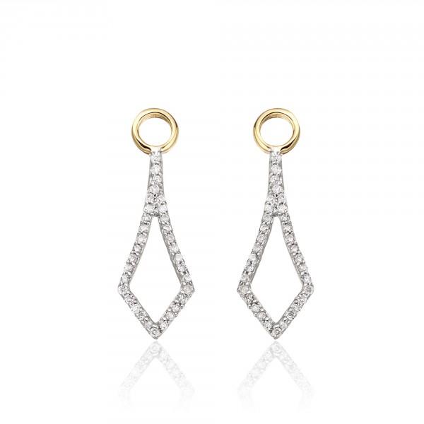 Sparkling Tie 0.20ct Diamond Earrings In 9K Yellow Gold