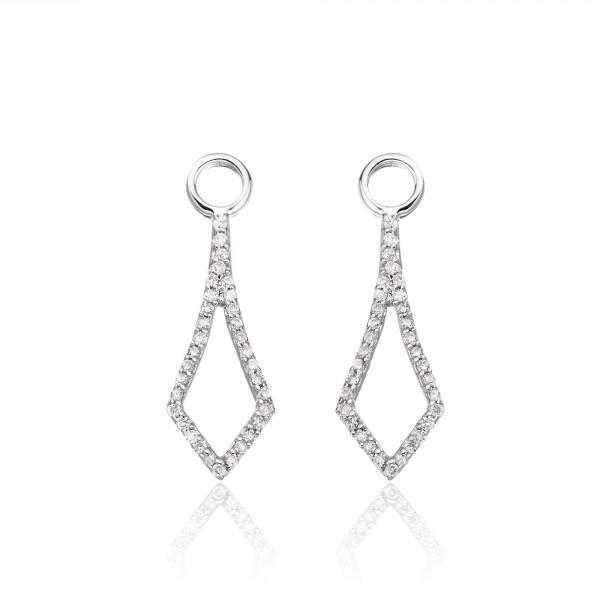 Sparkling Tie 0.20ct Diamond Earrings In 9K White Gold
