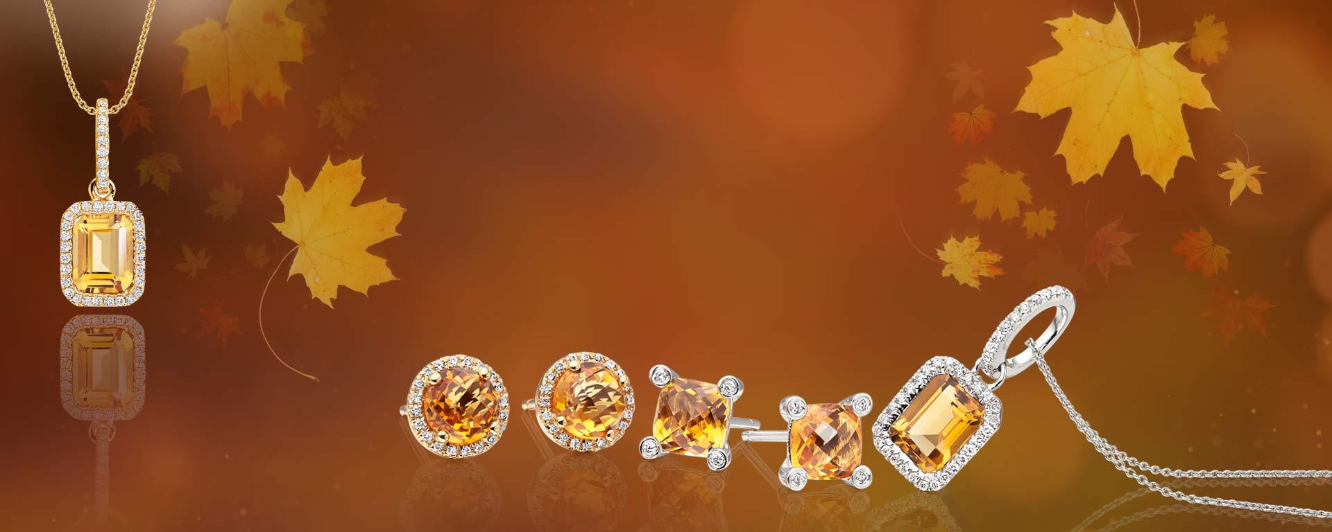 WHO WILL YOU TREAT?Sensational Citrine & Diamond Jewellery